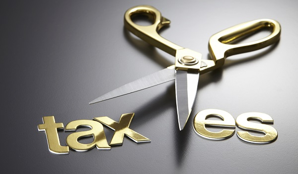 scissors and the alphabet TAXES